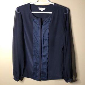 Tory Burch 100% silk long sleeve blouse